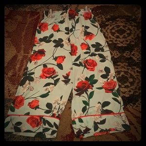 Alice+Olivia Satin Pajama Pants!